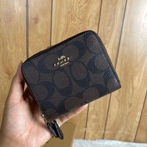 coach wallet double zip